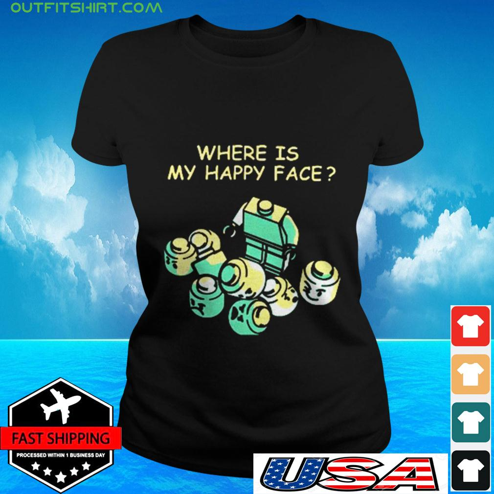Where is my happy face ladies-tee