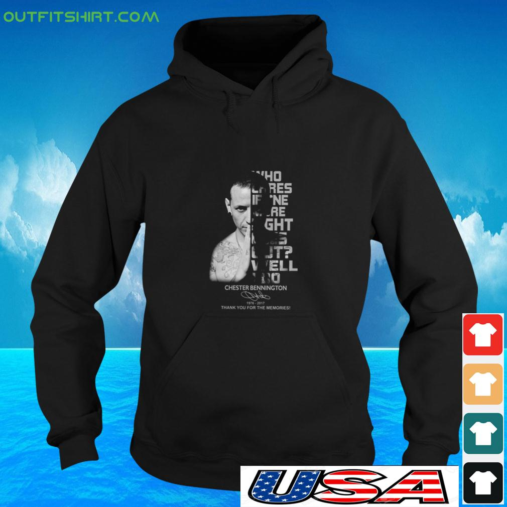 Who cares if one more light goes out well I do Chester Bennington signature hoodie