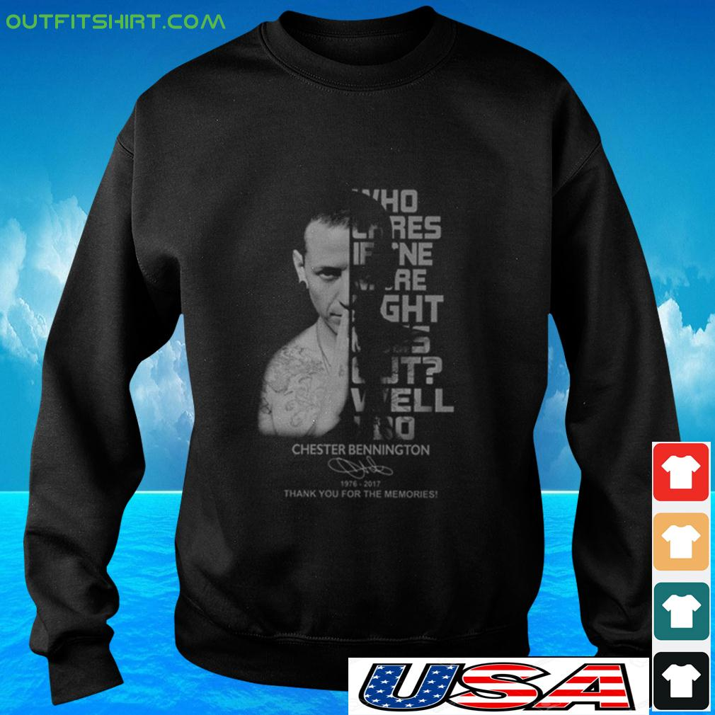 Who cares if one more light goes out well I do Chester Bennington signature sweater