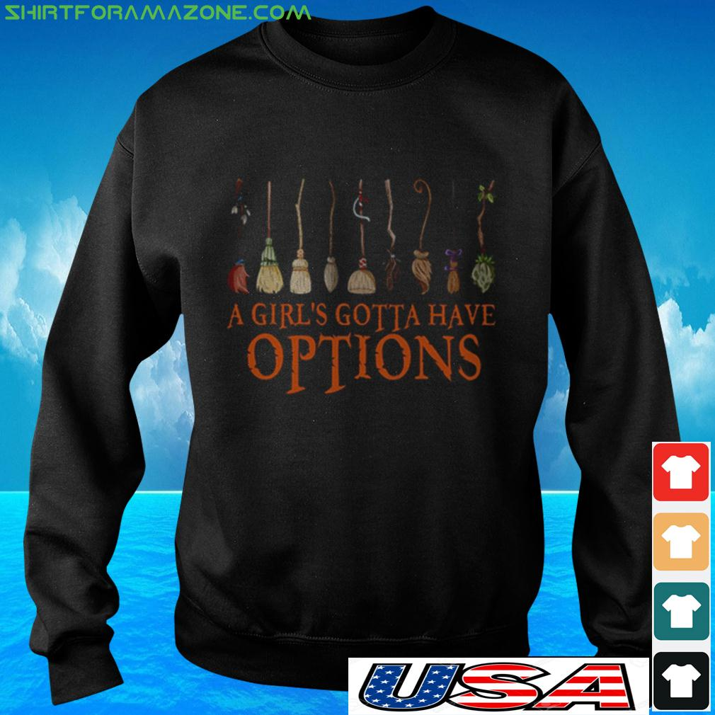 Witch Halloween a girl's gotta have options sweater