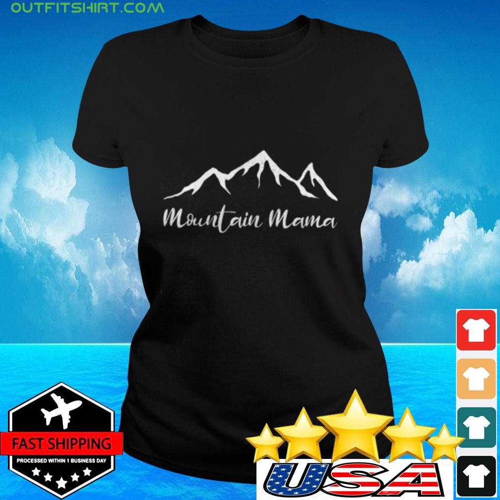 Womens Mother's Day Camping Mountain ladies-tee