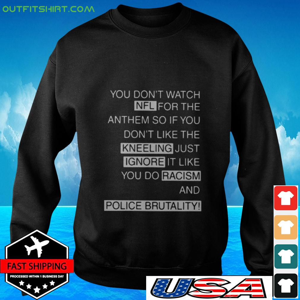 You don't watch NFL for the anthem sweater