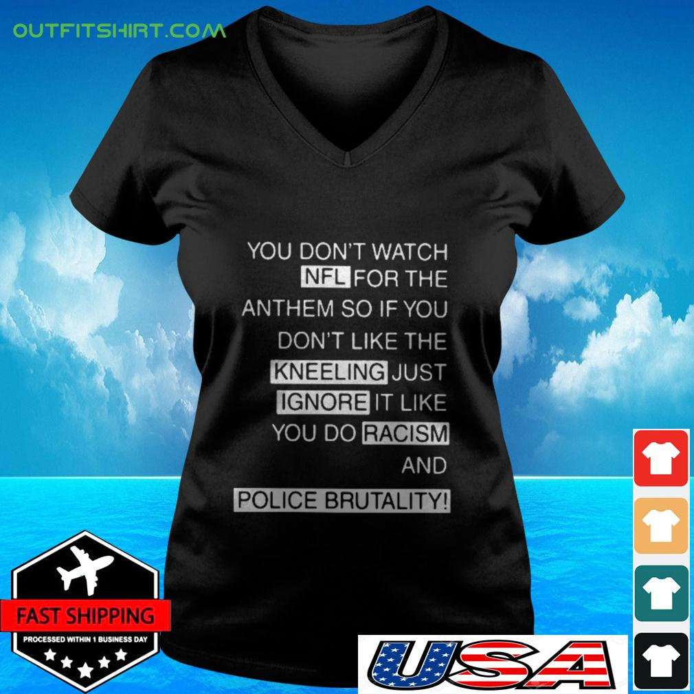 You don't watch NFL for the anthem v-neck t-shirt