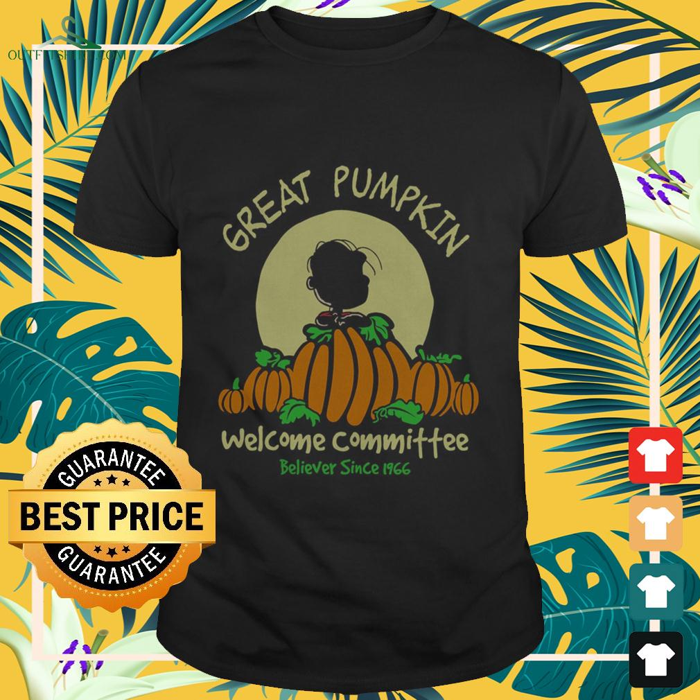 Charlie Brown great pumpkin welcome committee believer since 1966 t-shirt