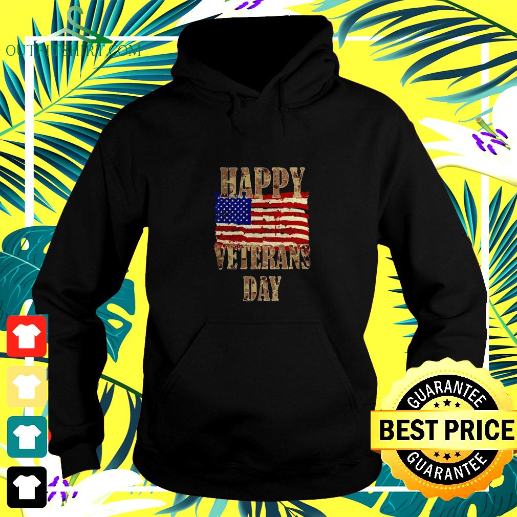 Happy Veterans day American flag hoodie