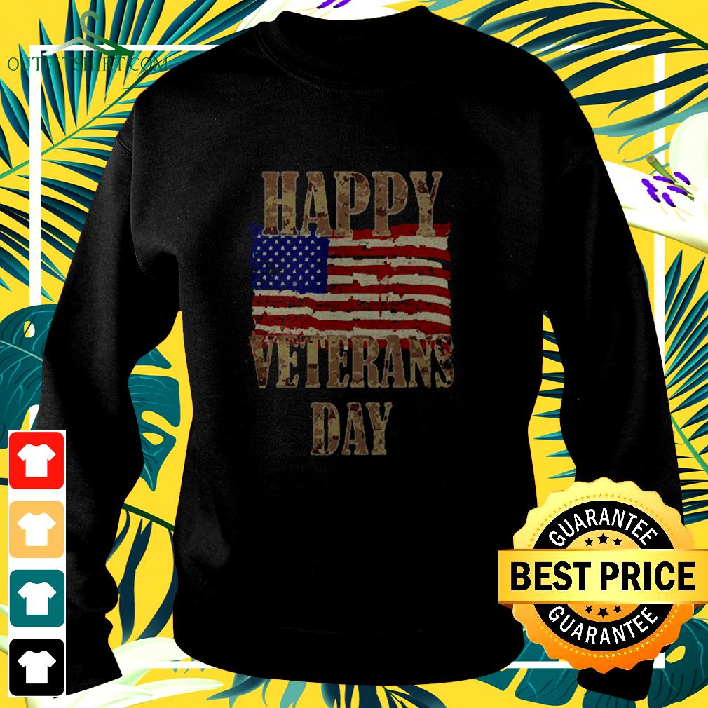 Happy Veterans day American flag sweater