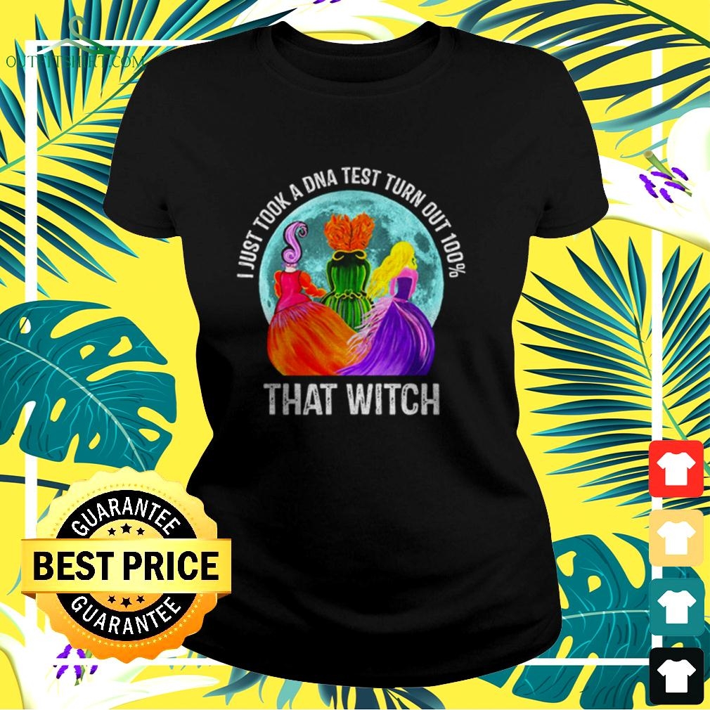 Hocus Pocus moon I just took a DNA test turn out 100' that witch halloween ladies-tee
