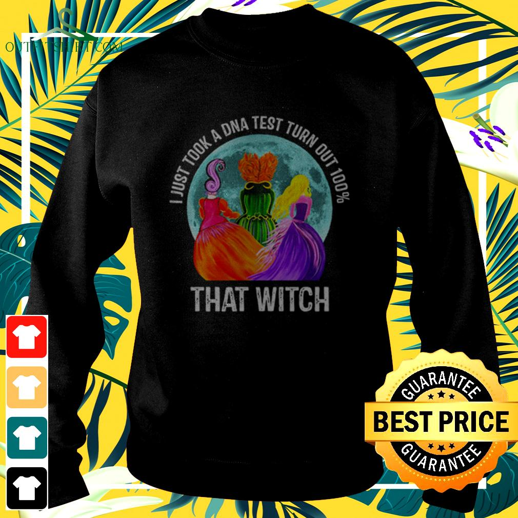 Hocus Pocus moon I just took a DNA test turn out 100' that witch halloween sweater