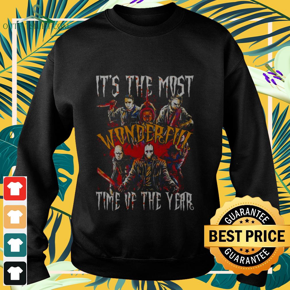 Horror movies characters it's the most wonderful time of the year Halloween sweater