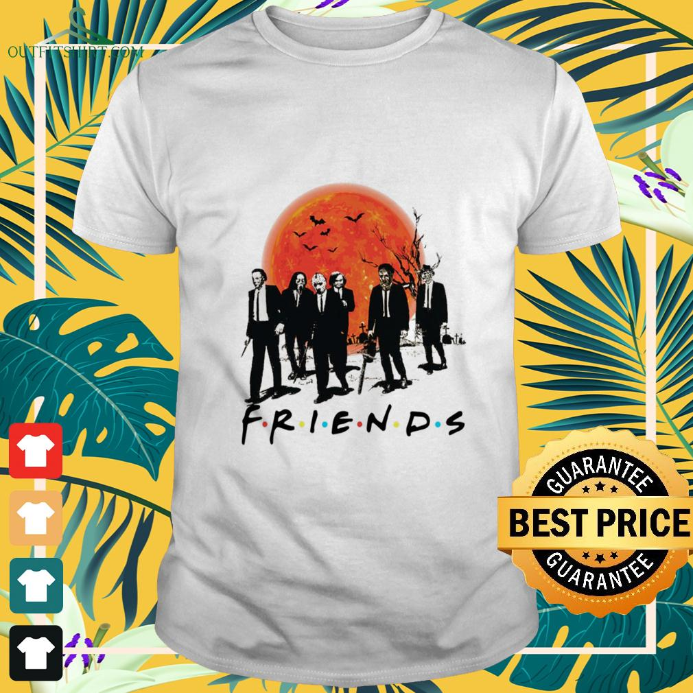 Horror movies characters wear vest friends t-shirt