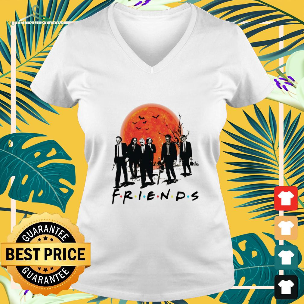 Horror movies characters wear vest friends v-neck t-shirt