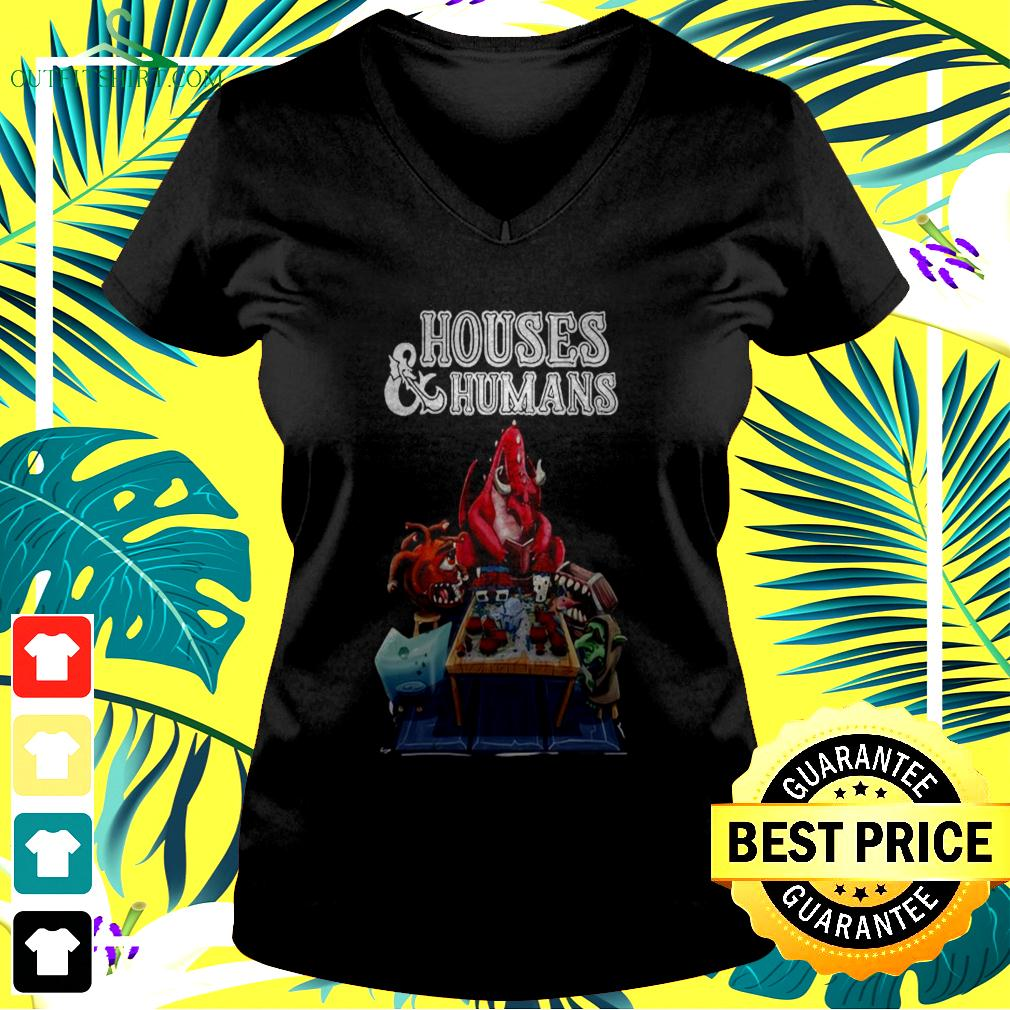 Houses and humans v-neck t-shirt