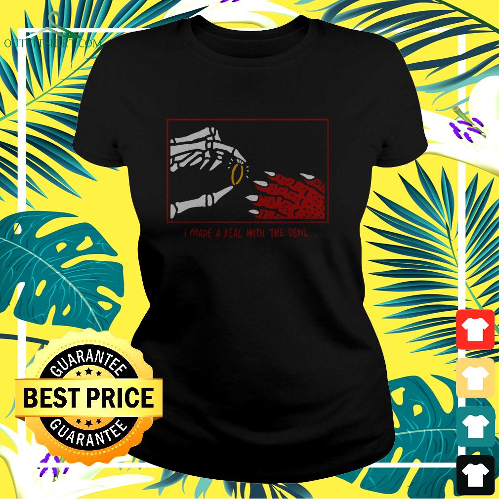 I made a deal with the devil ladies-tee
