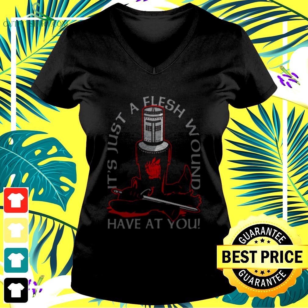 It's just a flesh wound have at you v-neck t-shirt