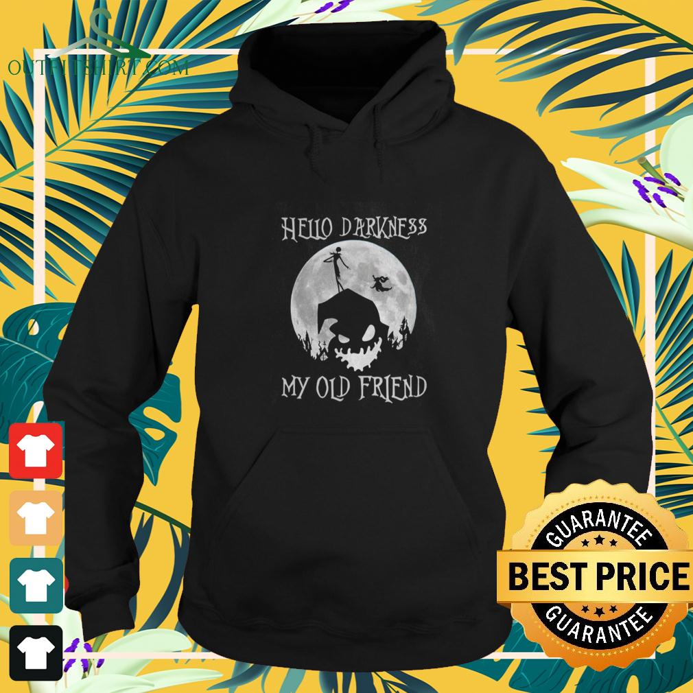 Jack Skellington and Oogie Boogie hello darkness my old friend hoodie