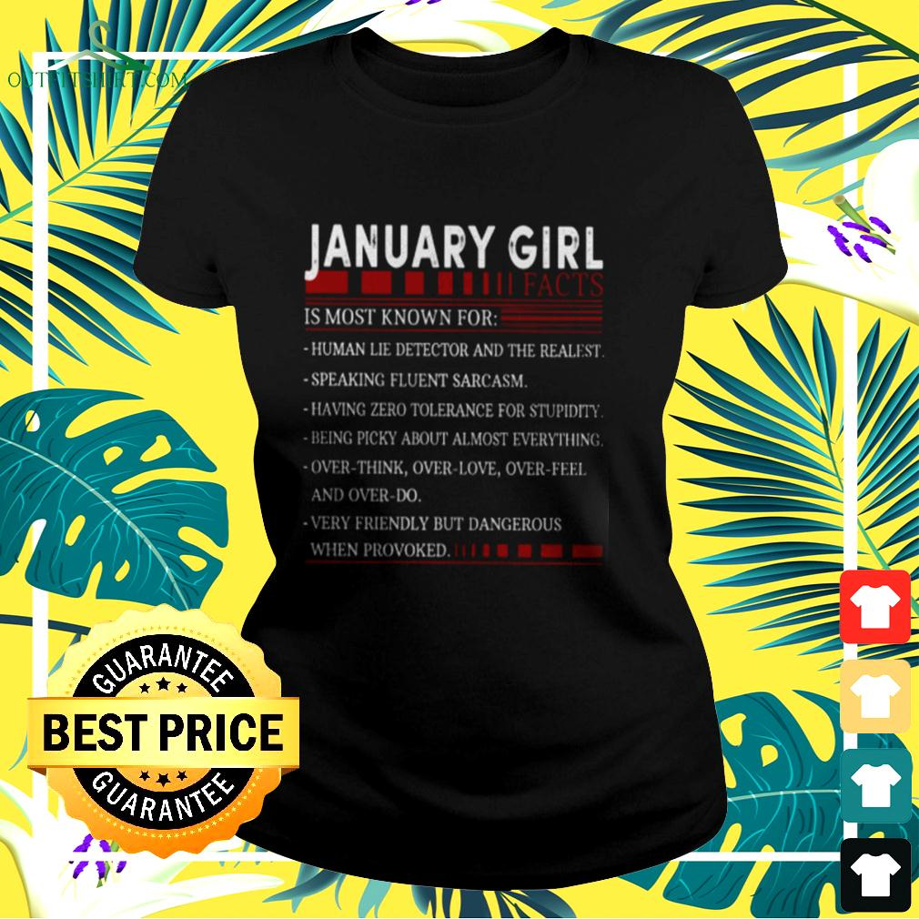 January girl facts is most known for ladies-tee