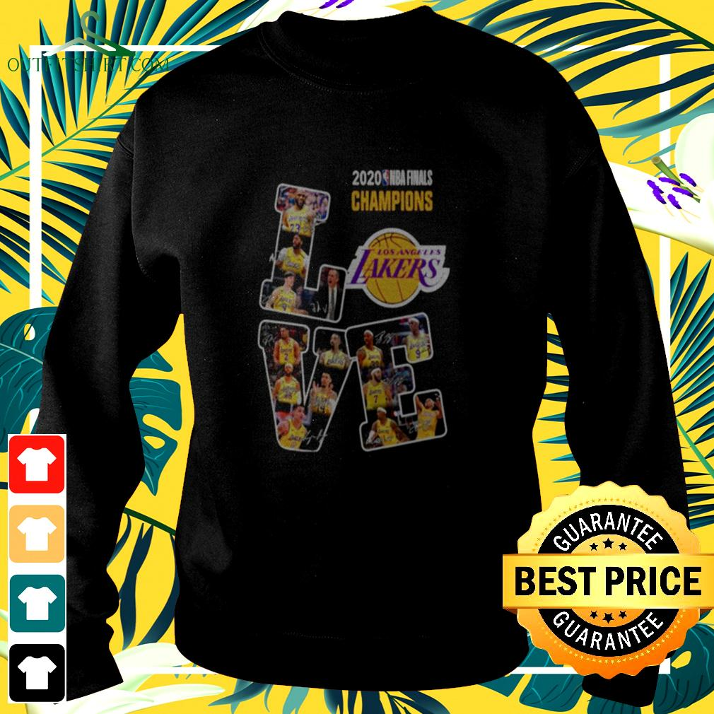 Love Los Angeles Lakers 2020 Nba Finals Champions Signatures sweater