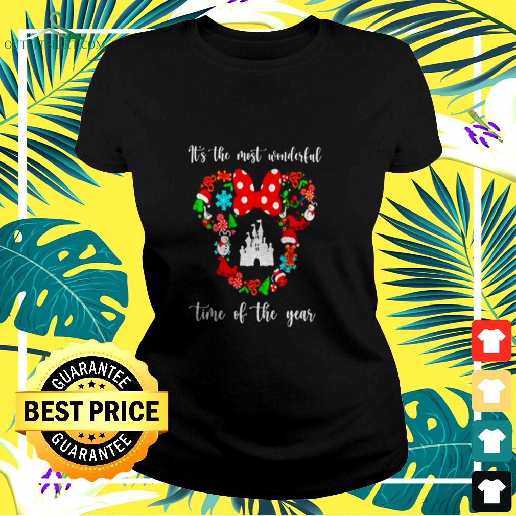 Mickey Disney It's The Most Wonderful Time Of The Year ladies-tee
