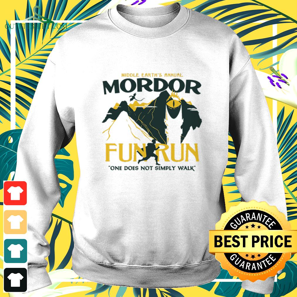 Middle earth's annual Mordor fun run one does not sumply walk sweater