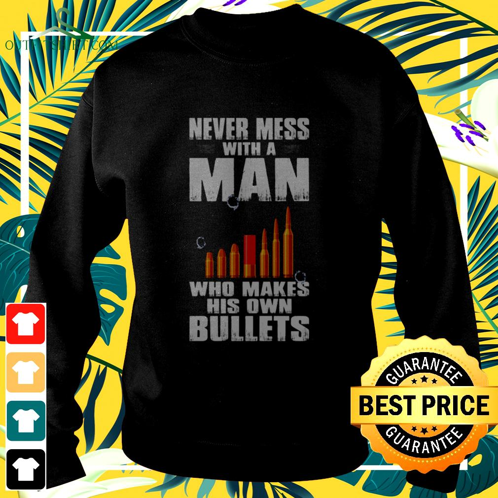 Never mess with a man who makes his own bullets sweater