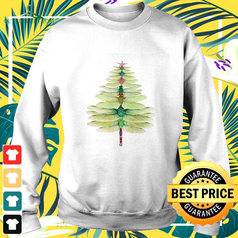 Dragonfly Christmas tree sweater