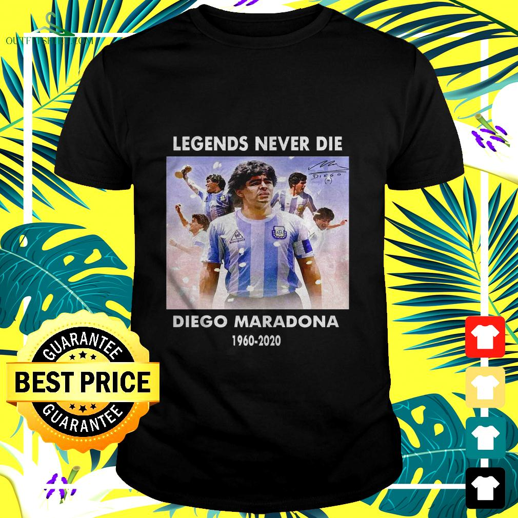Legend never die Diego Maradona 1960 2020 signature t-shirt