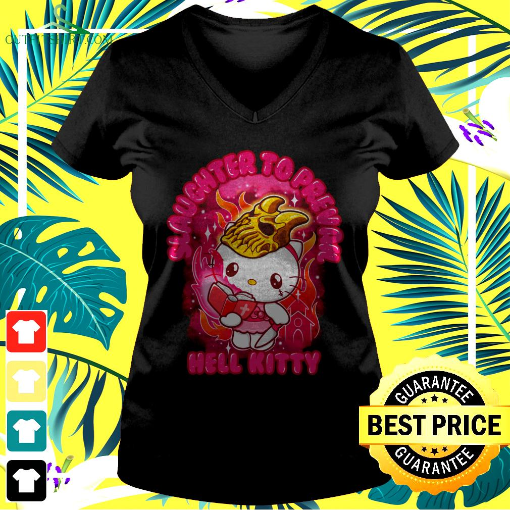 Slaughter to prevail hell kitty Hello Kitty v-neck t-shirt