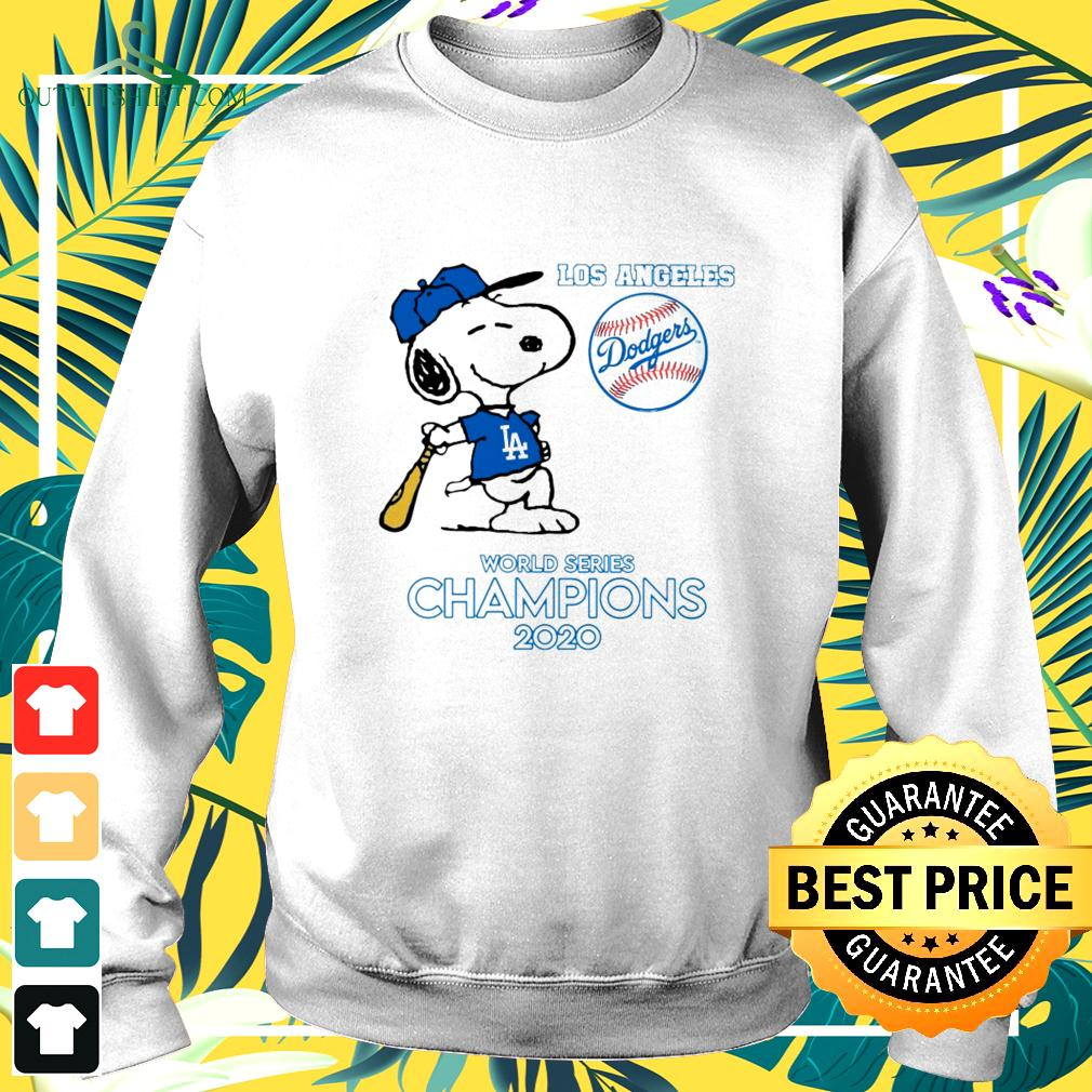 Snoopy Los Angeles Dodgers world series champions 2020 sweater