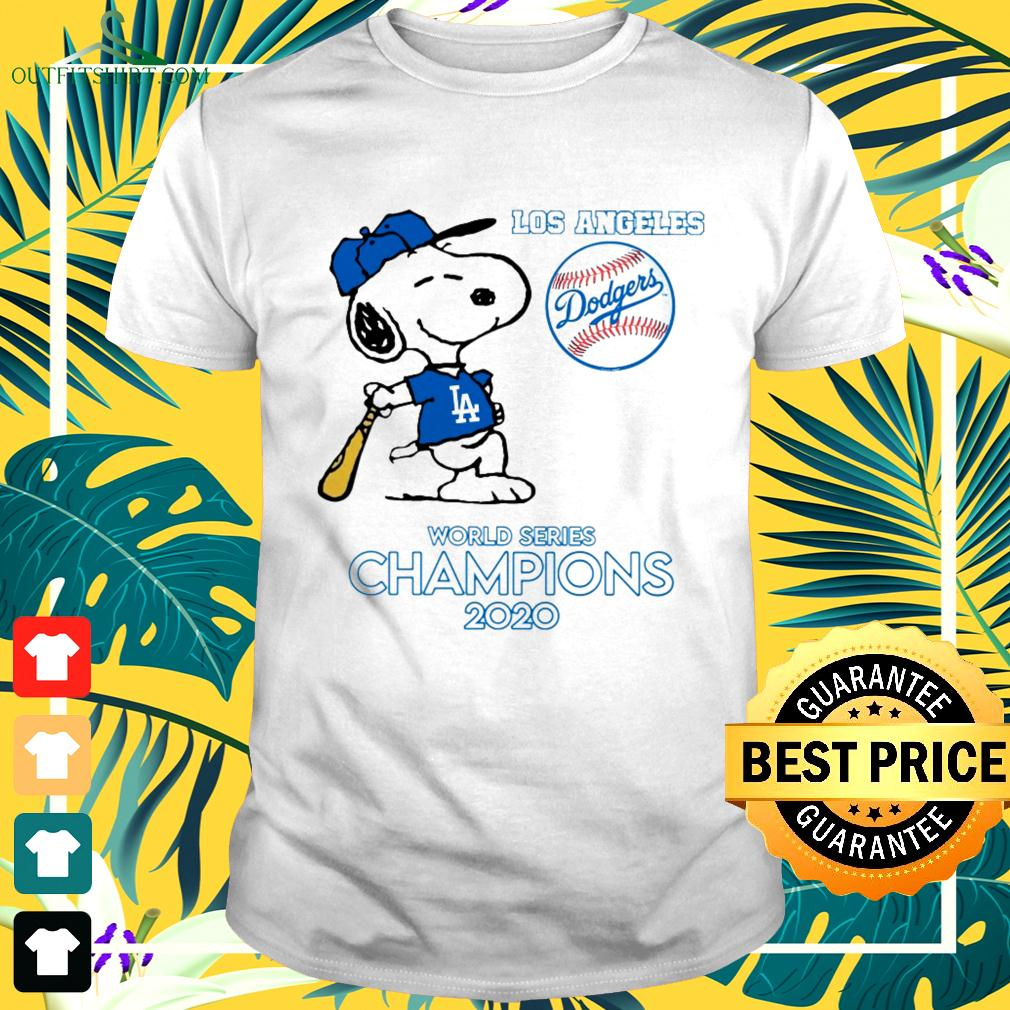 Snoopy Los Angeles Dodgers world series champions 2020 t-shirt