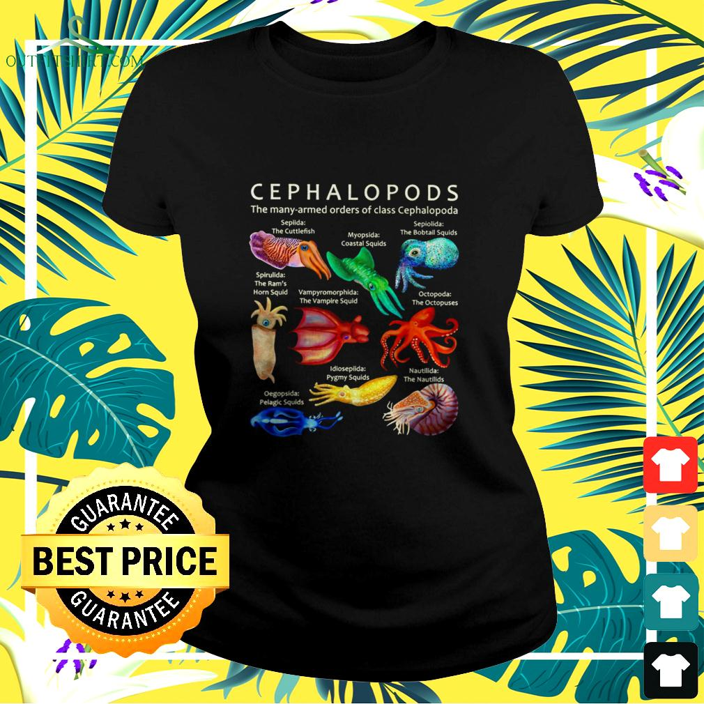 Cephalopods the many-armed orders of class cephalopoda ladies-tee