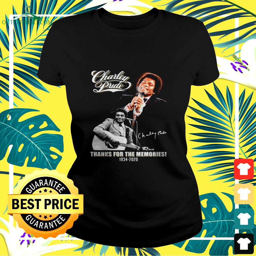 Charley Pride thanks for the memories 1934-2020 signature ladies-tee