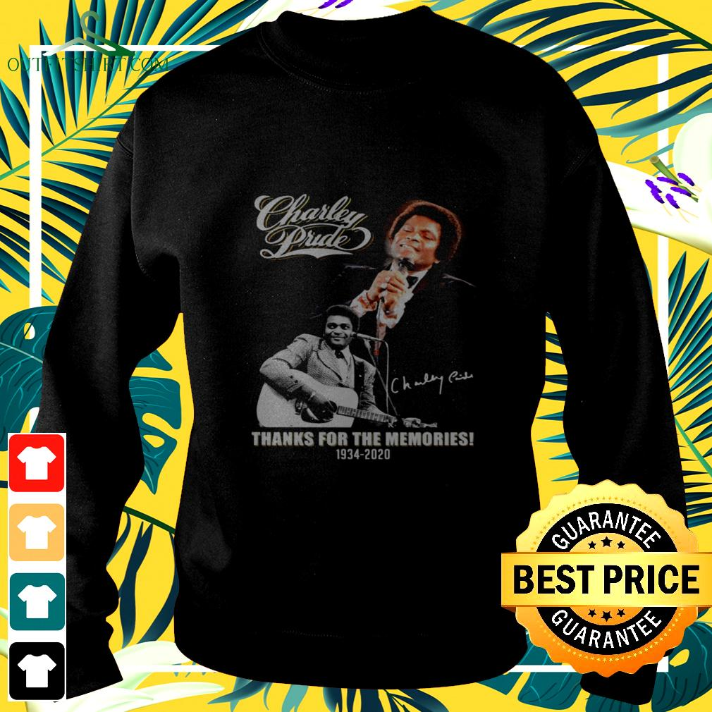 Charley Pride thanks for the memories 1934-2020 signature sweater