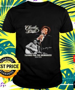 Charley Pride thanks for the memories 1934-2020 signature t-shirt