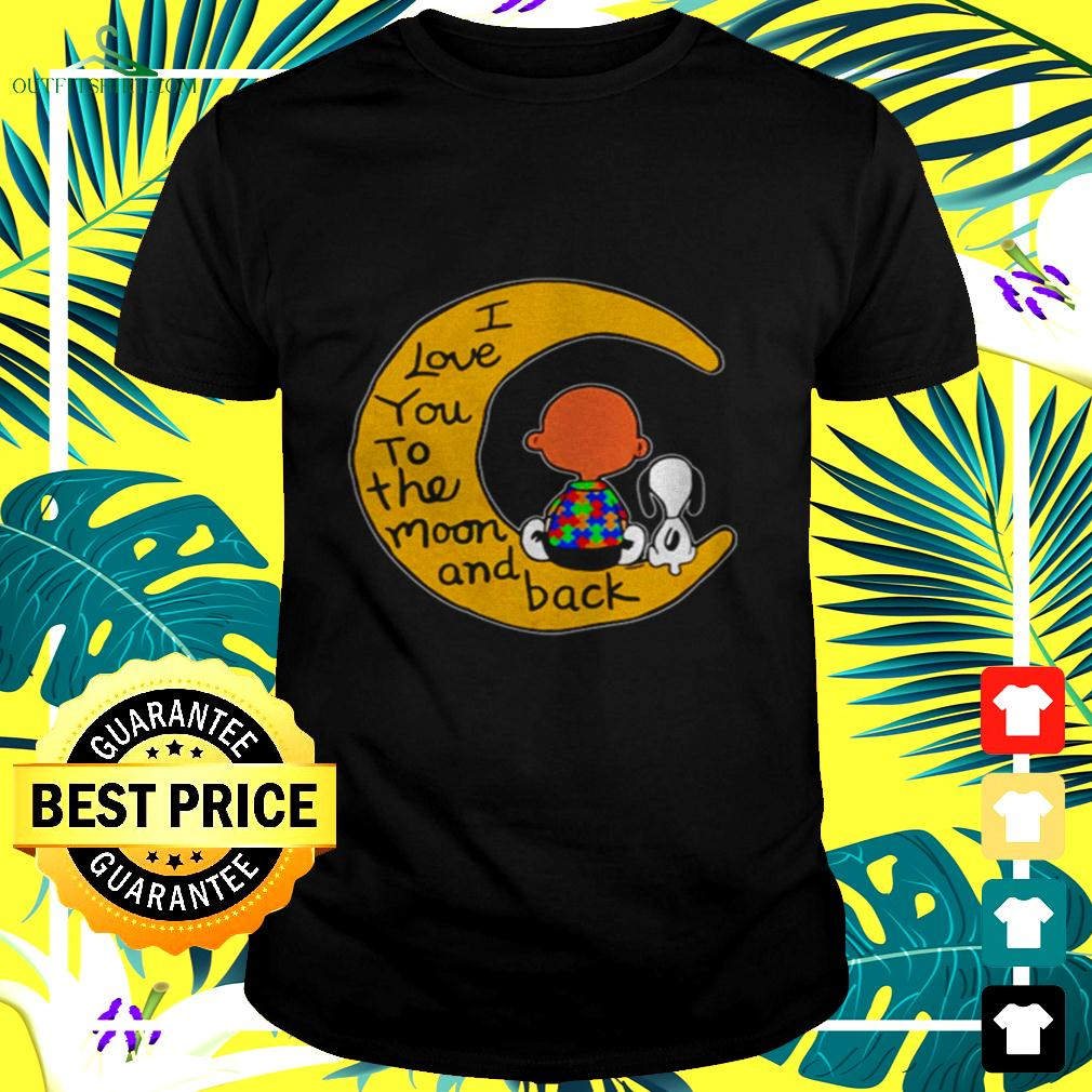 Peanut Snoopy I love you to the moon and back t-shirt