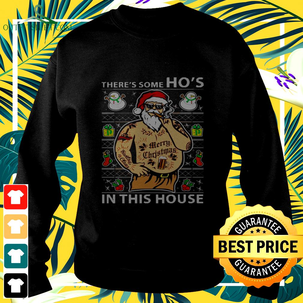 Santa wap there's some ho's in this house christmas swetaer