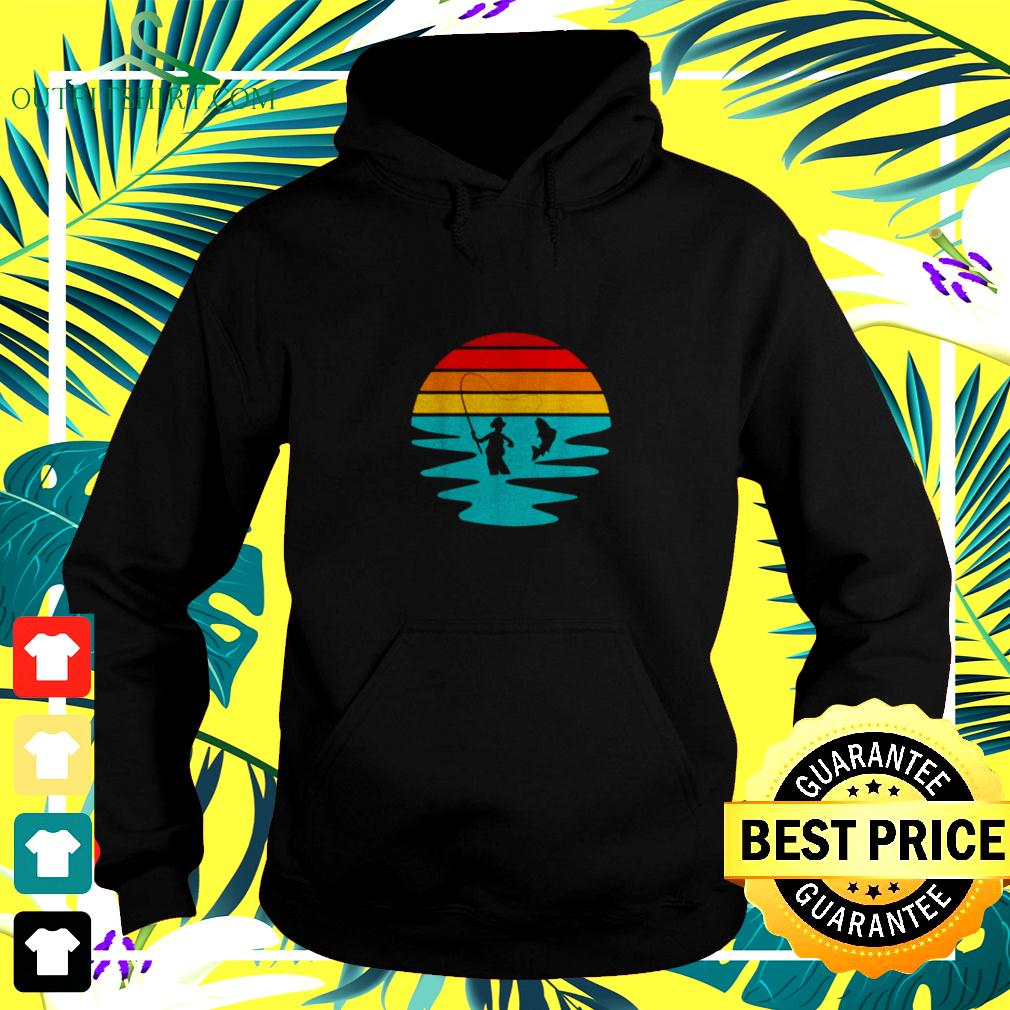 Sunset Artificial Nymph Fly Fishing Vintage hoodie