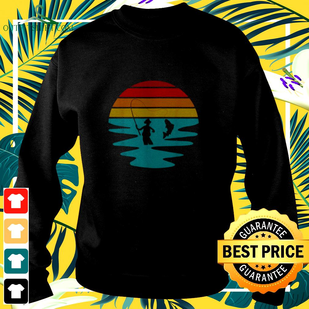 Sunset Artificial Nymph Fly Fishing Vintage sweater