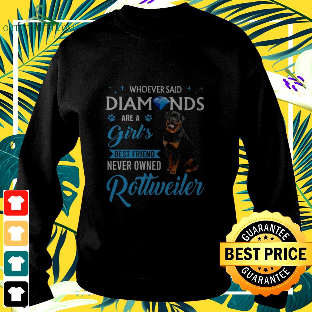Whoever said diamonds are a girl's best friend never owned Rottweiler sweater