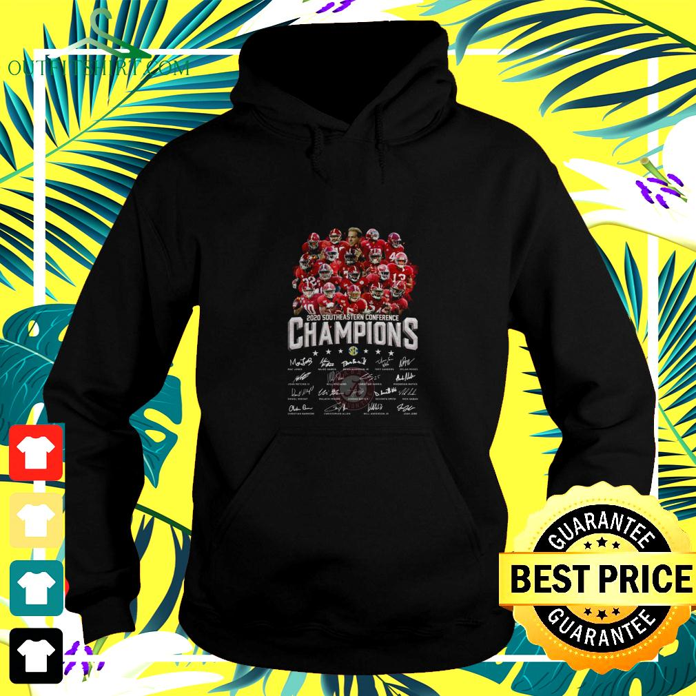 Alabama Crimson Tide 2020 Southeastern Conference Champions signatures hoodie