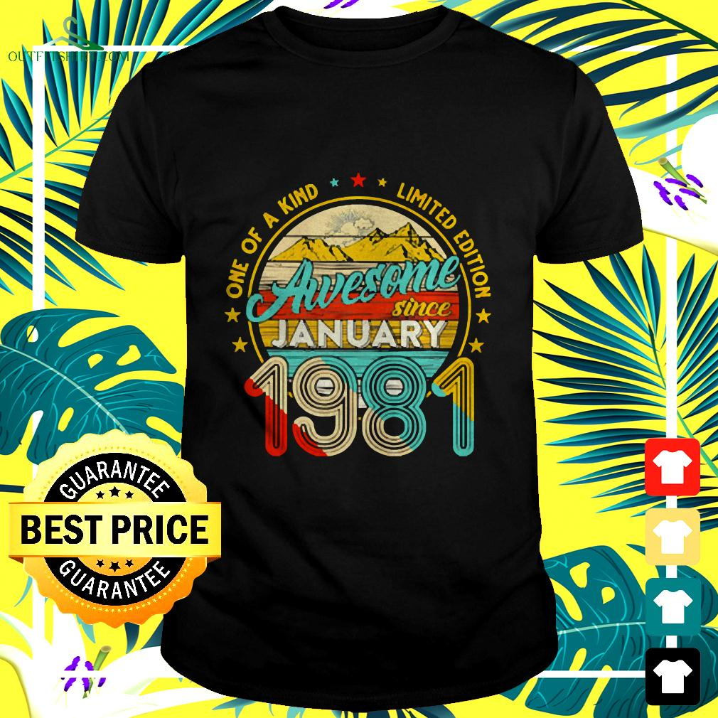 Born In January 1981 40th Birthday Gift Retro 40 t-shirt