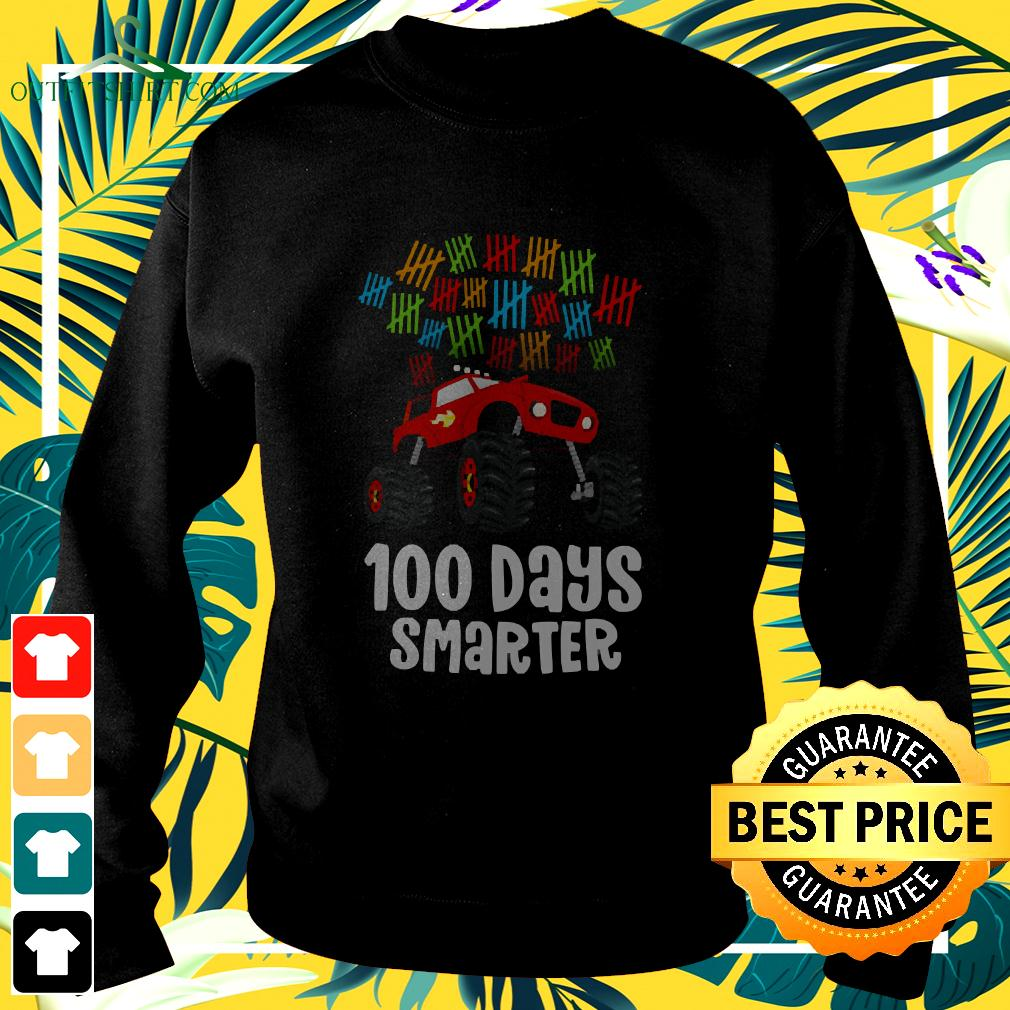 Boys 100th Day of School Shirt Monster Truck 100 sweater