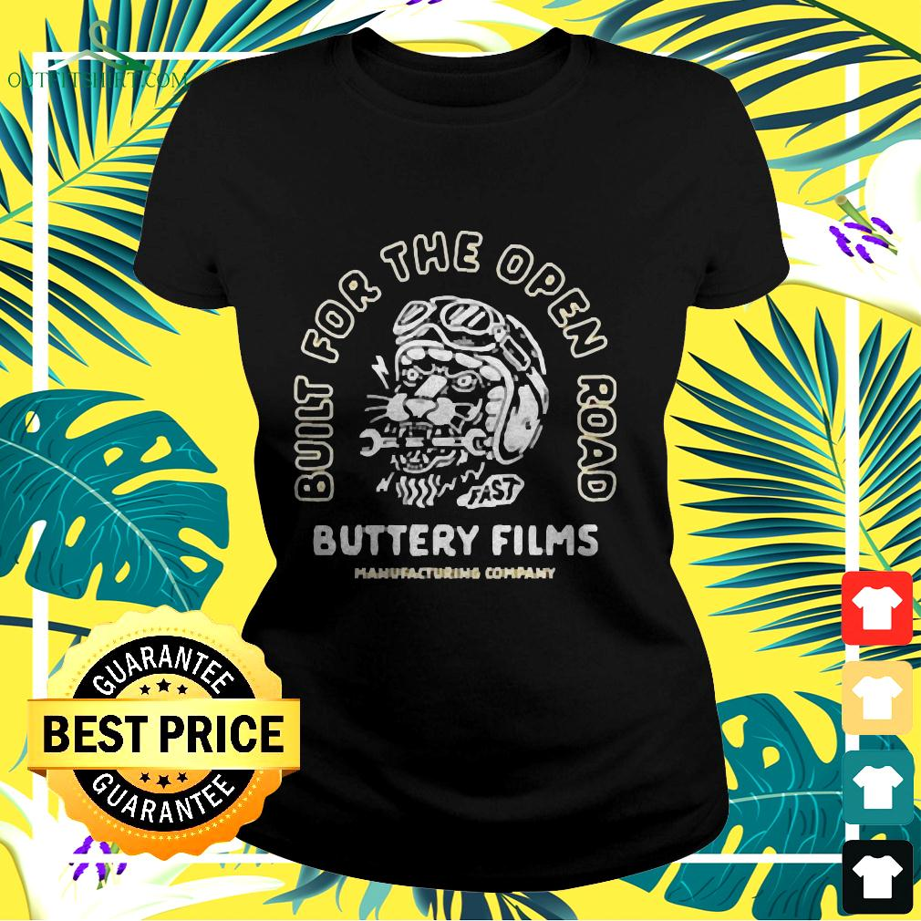 Build for the open road buttery films ladies-tee