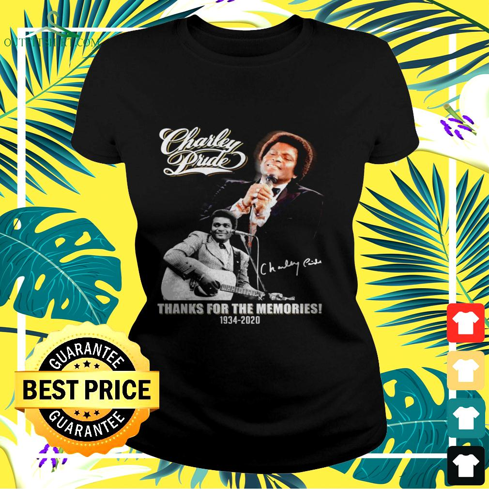 Charley Prude thanks for the memories 1934 2020 signature ladies-tee