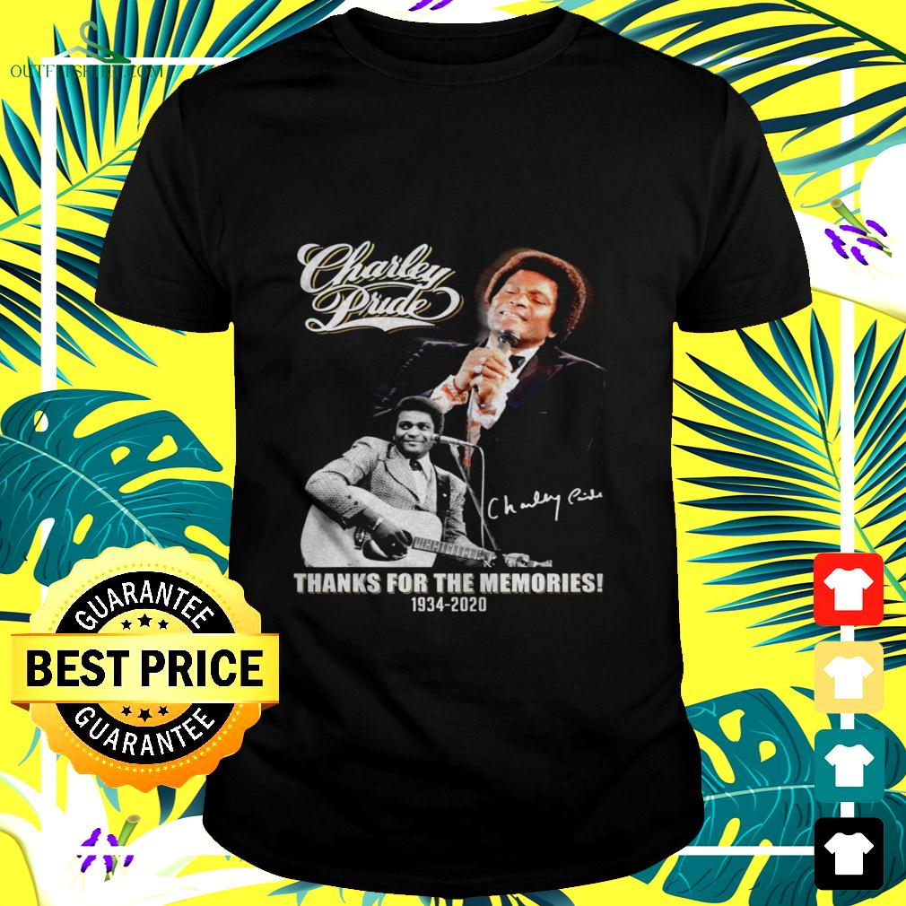 Charley Prude thanks for the memories 1934 2020 signature t-shirt