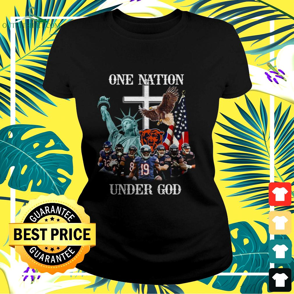 Chicago Bears one nation under God ladies-tee