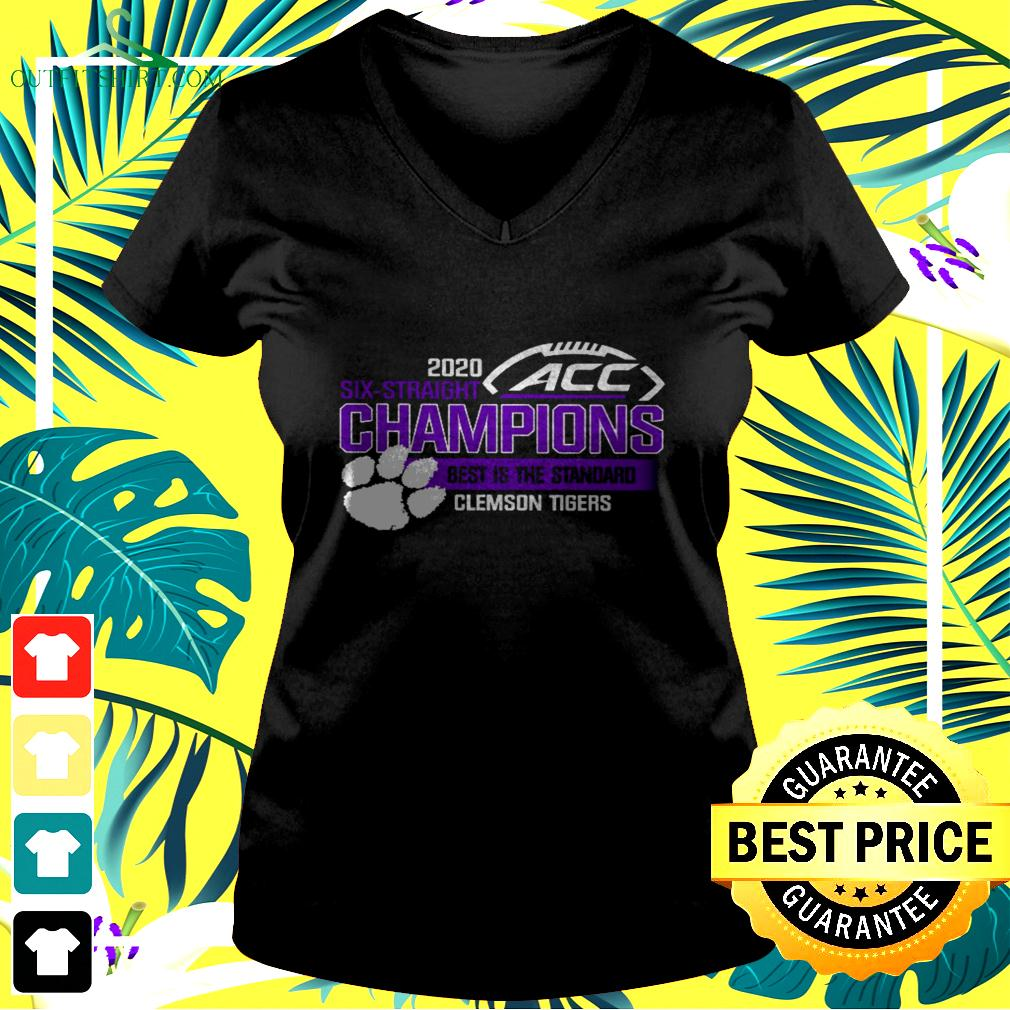 Clemson Tigers ACC championship 2020 six straight champions best is the standard v-neck t-shirt