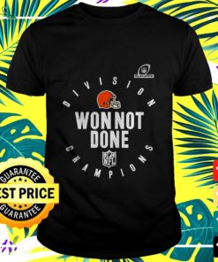 Cleveland Browns NFL Playoffs Division Champions won not done t-shirt