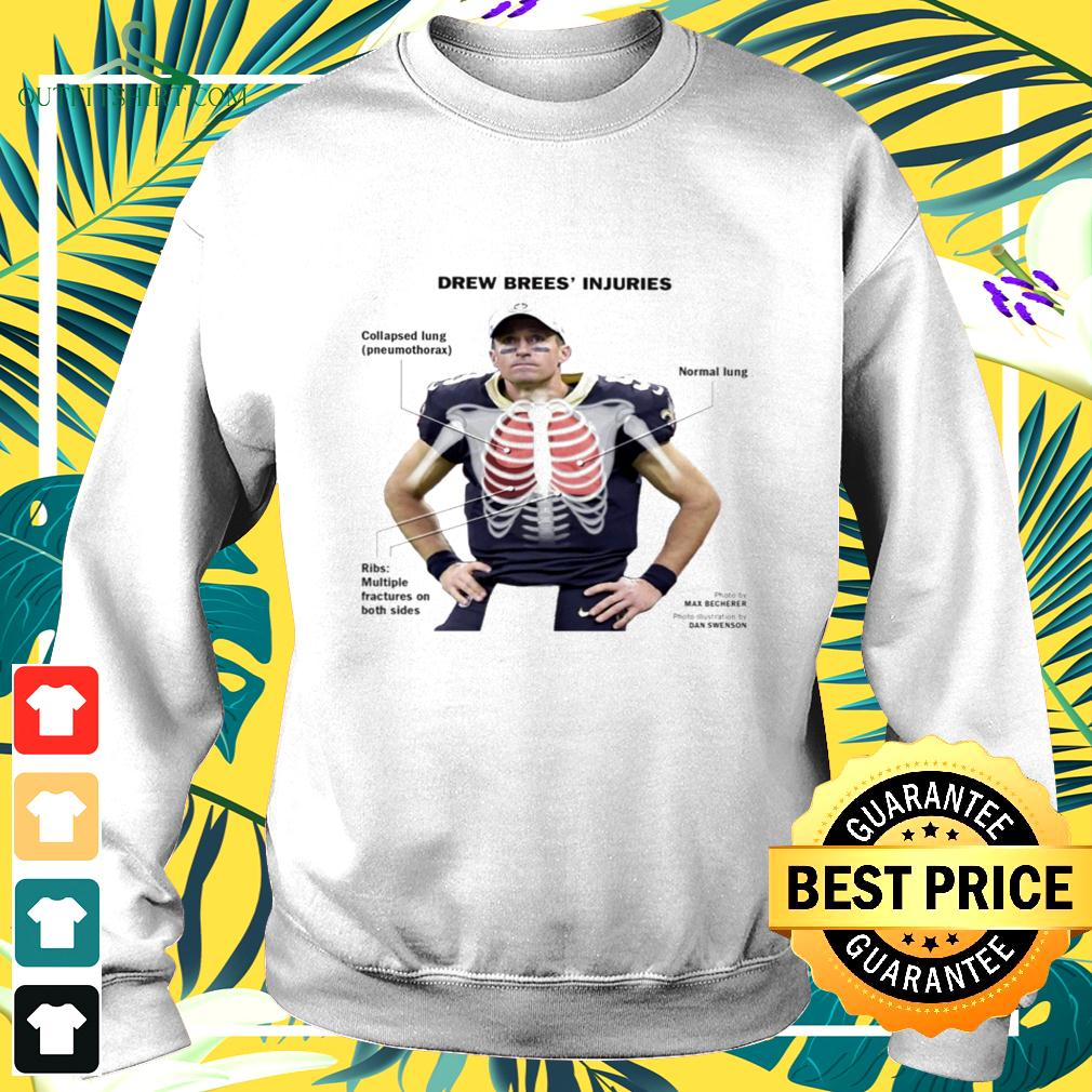 Drew Brees' injuries Collapsed lung sweater