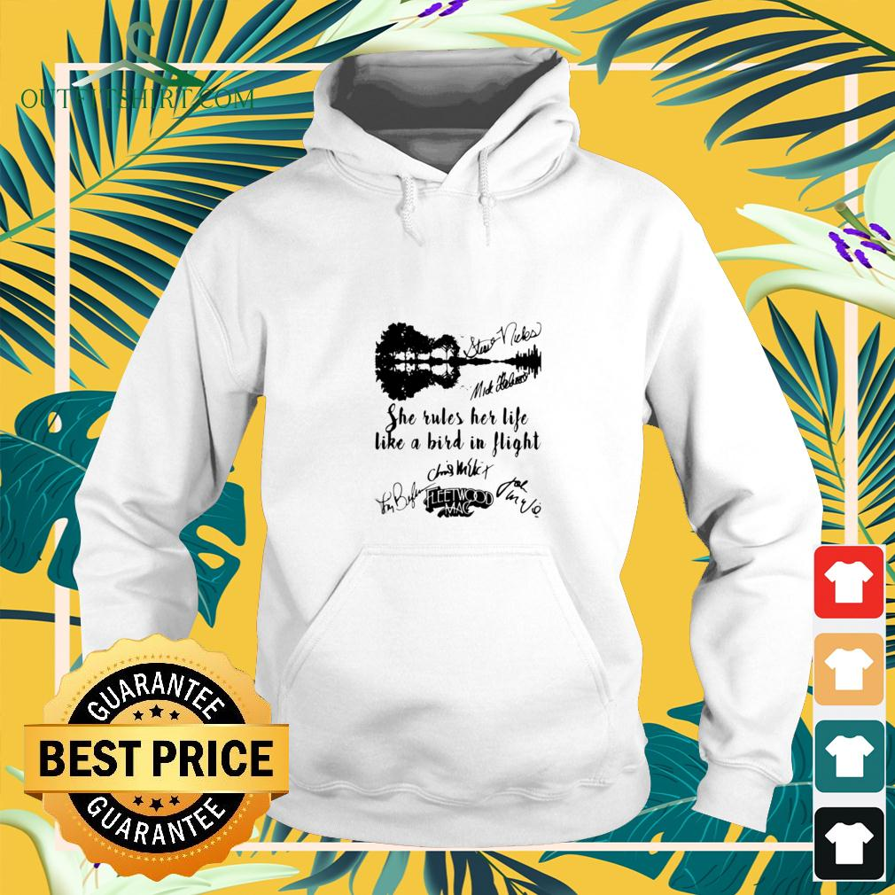 Fleetwood mac she rules her life like a bird in flight signatures hoodie