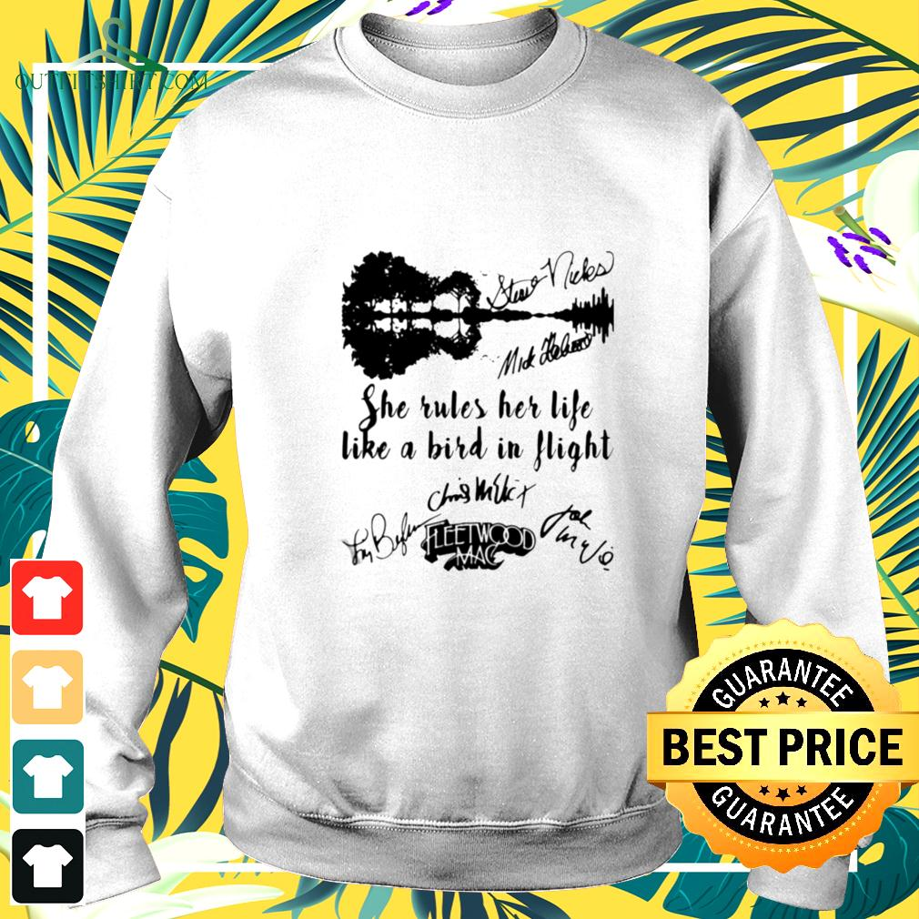 Fleetwood mac she rules her life like a bird in flight signatures sweater